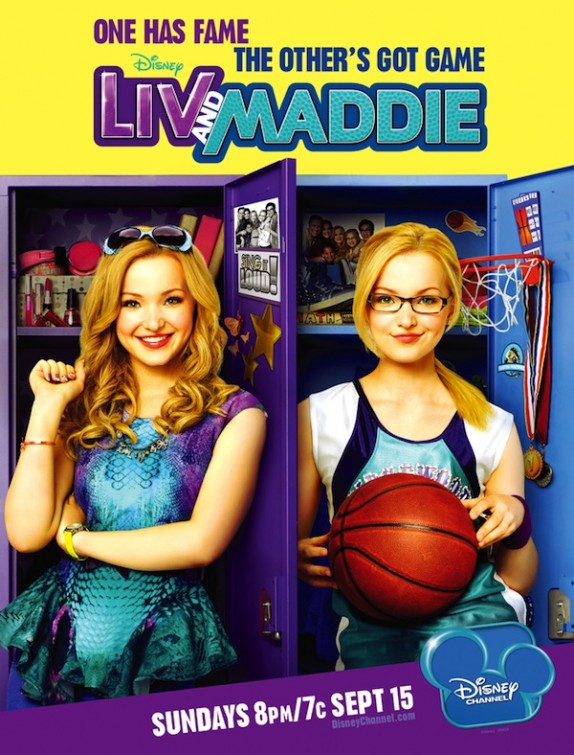 Liv And Maddie. The show stars Dove Cameron playing duel roles as Liv