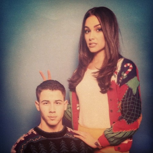 Nick Jonas + Olivia Culpo At Joe + Blanda's Last Minute Holiday Party