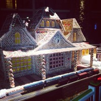@joejonas: Just finished building my first gingerbread house. Phew.