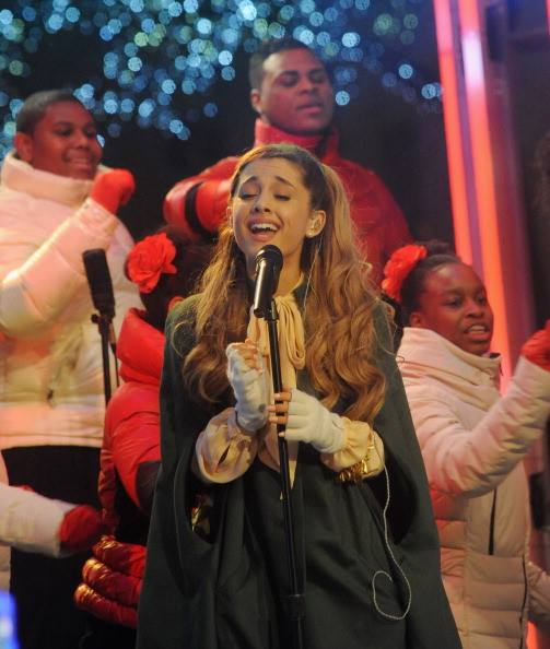"""Rockefeller Center Christmas Tree 2013: Watch Now: Ariana Grande Performs """"Love Is Everything"""" At"""