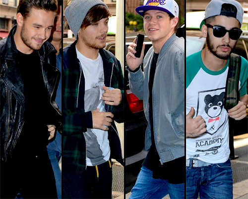 One Direction: Liam, Louis, Niall, & Zayn Arrive To 'SNL' Rehearsals