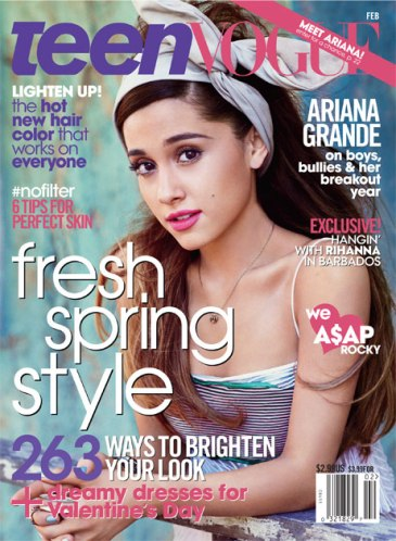 Ariana Grande, 'Teen Vogue' February 2013 - Cover