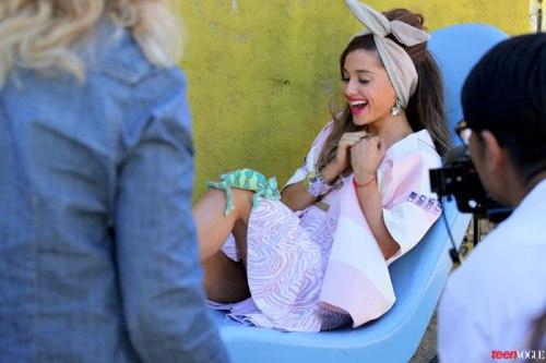 Ariana Grande, 'Teen Vogue' February 2013 - BTS