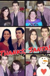 Joe Jonas + fans at DFW Airport, fan-made collage