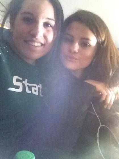 Selena Gomez + a fan on flight to LA