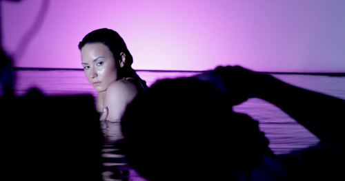 "Demi Lovato, ""Neon Lights"" Music Video - BTS"