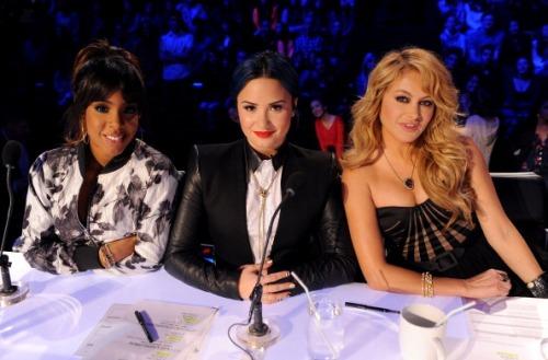 Demi Lovato, Kelly Rowland, + Paulina Rubio On 'The X Factor'