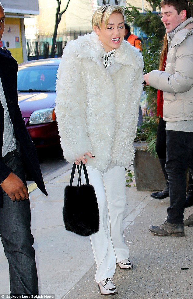 45f1ad4972a3 Miley Cyrus Arrives For Jingle Ball In NYC – TeenInfoNet