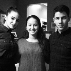 Nick Jonas, Olivia Culpo, and friend