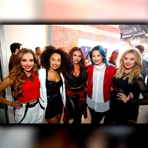 Little Mix + Demi Lovato At X Factor USA