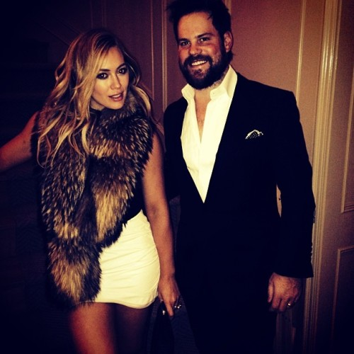 Hilary Duff + Mike Comrie, NYE 2014 - Instagram