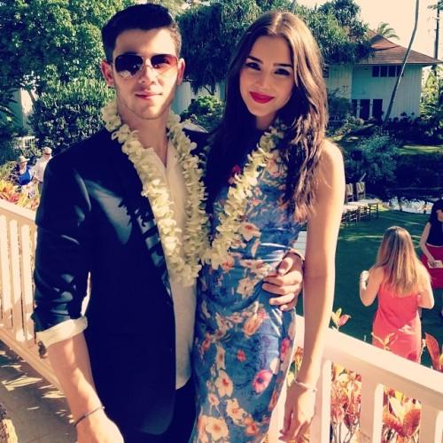 Nick Jonas + Olivia Culpo in Kauai