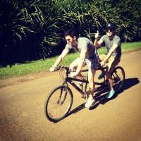 @joejonas: Two guys one bike (Nick Jonas + Greg Garbowsky)
