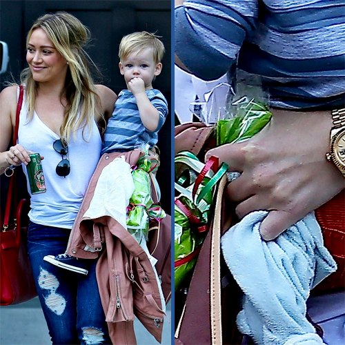 hilary duff spotted sans wedding ring see the pics of her out with son luca here teeninfonet - Hilary Duff Wedding Ring