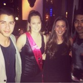 Nick, Joe, + fans at Hakkasan Nightclub - 1/18