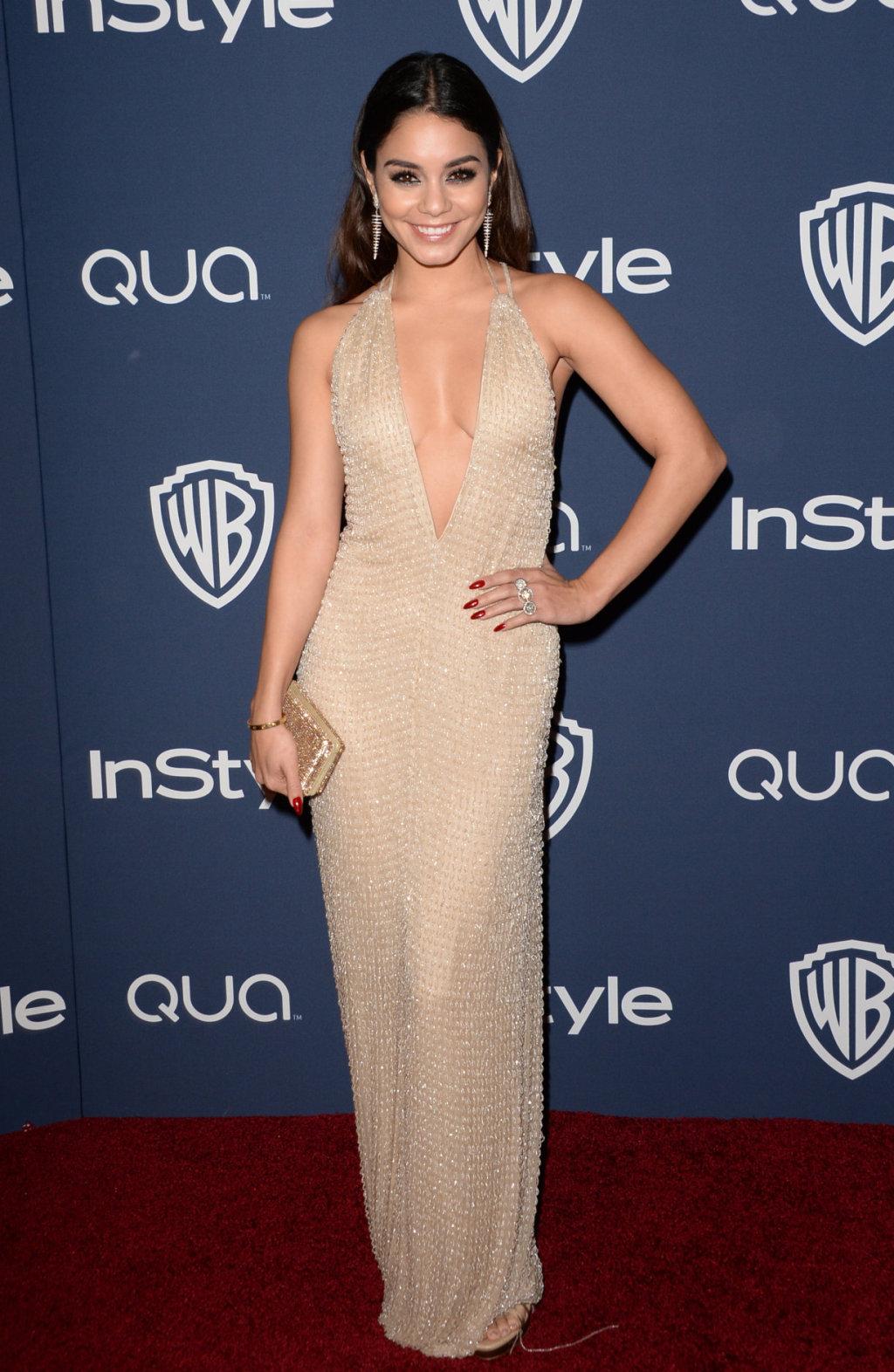 See Vanessa Hudgens Low Cut Dress At Golden Globes After Party VanessaHudgens TeenInfoNet
