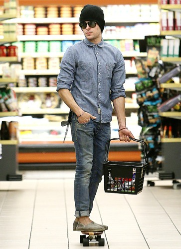 Zac Efron Super Market Skateboarder