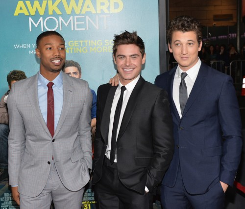 With Michael B. Jordan and Miles Teller