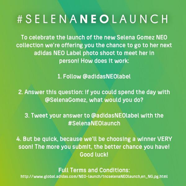 contest to meet selena gomez 2014