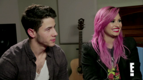 Nick Jonas + Demi Lovato, E! Interview
