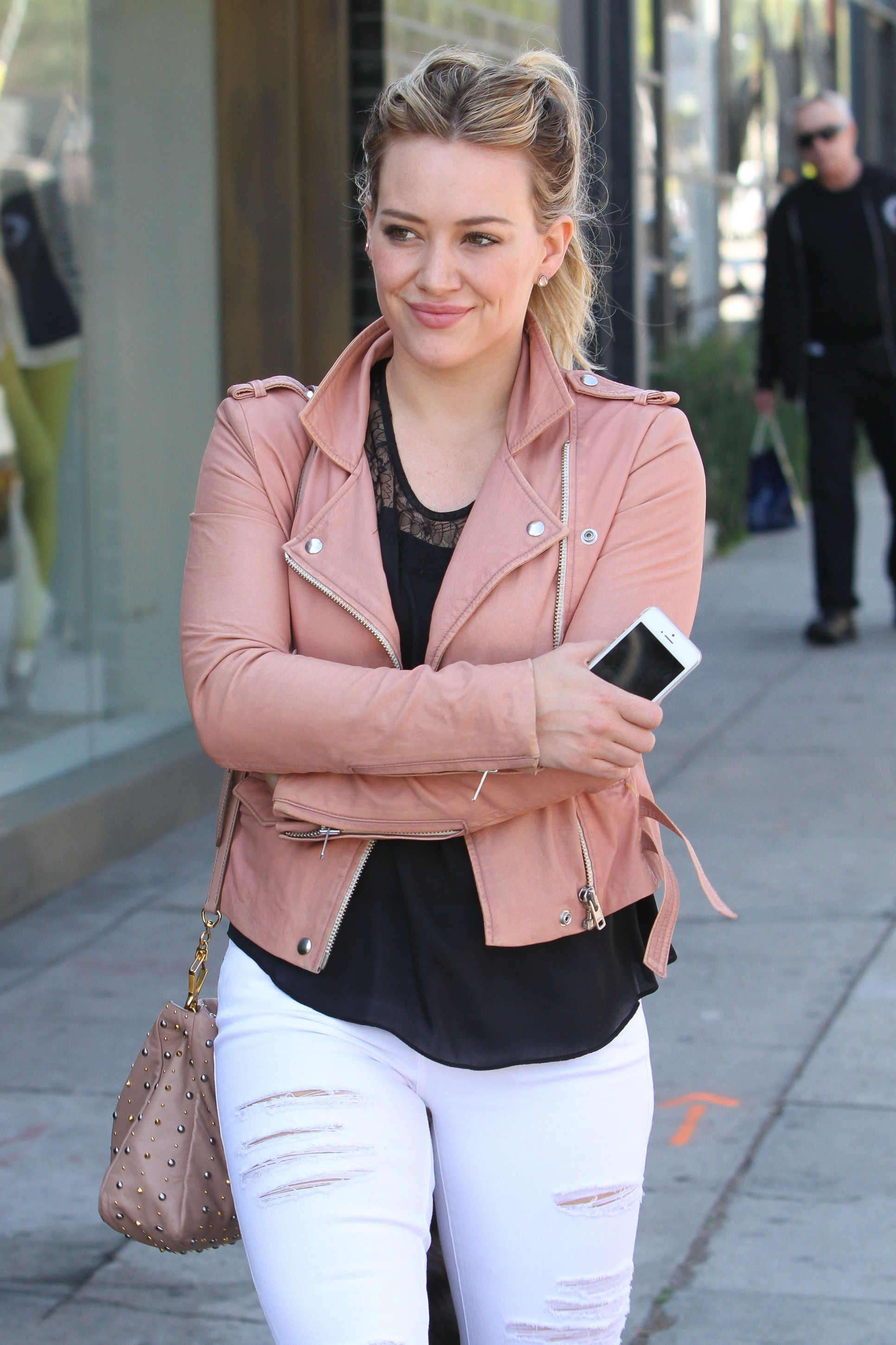 Hilary Duff: Pink Leather + A Raccoon Tail — Check Out All ... хилари дафф