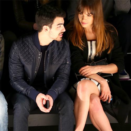 Joe Jonas + Blanda Eggenschwiler, NYFW Richard Chai Menswear Fall 2014