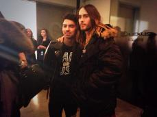 With Jared Leto