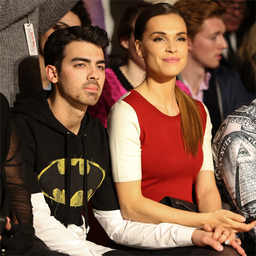 Joe Jonas + Blanda Eggesnchwiler - The Blonds - Front Row