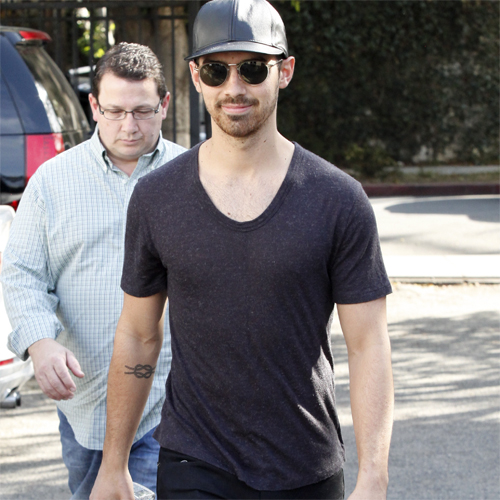 Joe Jonas + Kevin Jonas, Sr. (Papa Jonas) in Los Angeles