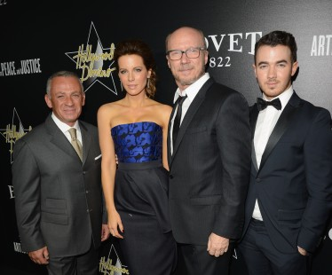 With Pascal Raffy, Kate Beckinsale, and Paul Haggis