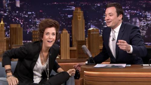 Kristen Wiig As Harry Styles On 'Tonight Show Starring JImmy Fallon'