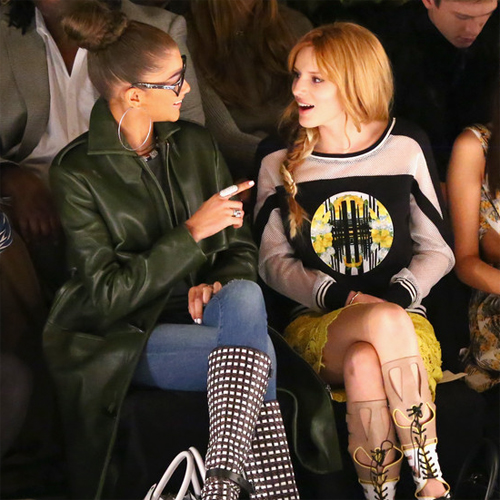 Zendaya Coleman + Bella Thorne, Rebecca Minkoff Fall 2014 - Front Row