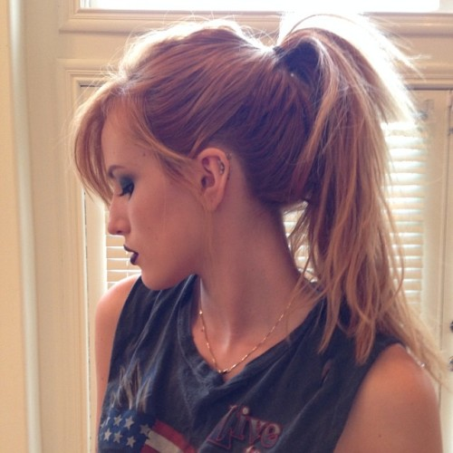 @bellathorne: Hair and makeup test #amityville