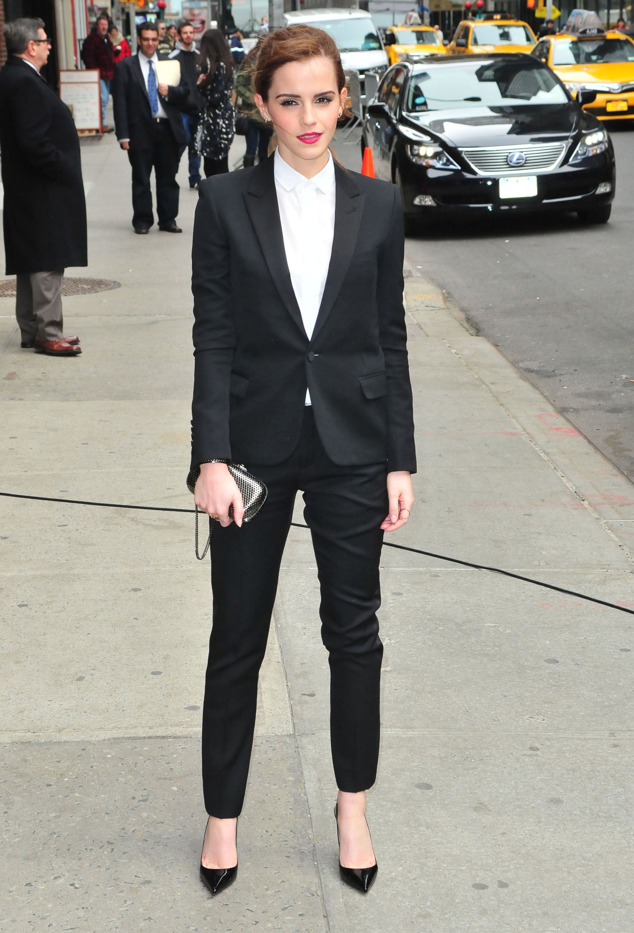 Emma Watson Rocks A Suit For Late Show With David