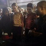 With Rihanna, Joan Smalls, and Kayne West