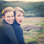karliekloss: another epic pit stop…Do you see the size of that elephant seal?!