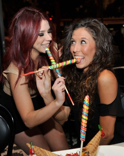 Actress Jillian Rose Reed Enjoys One Of Sugar Factory Bar & Grill's Amazing Desserts