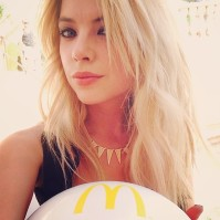 @itsashbenzo: Obsessed with the vibe at the @McDonalds pool party, I'm pumped to see passion pit killing it!!