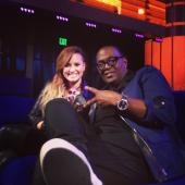 @YO_RANDYJACKSON: The lovely @ddlovato stopped by @AmericanIdol and joined me in the lounge #IdolLive