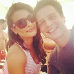 With Jonathan Groff