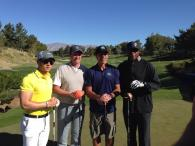 With teammates Wayne Gretsky, Chris Chelios, and Ahmad Rashad