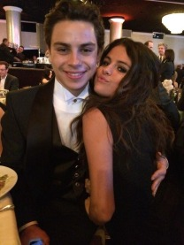 With Jake T. Austin