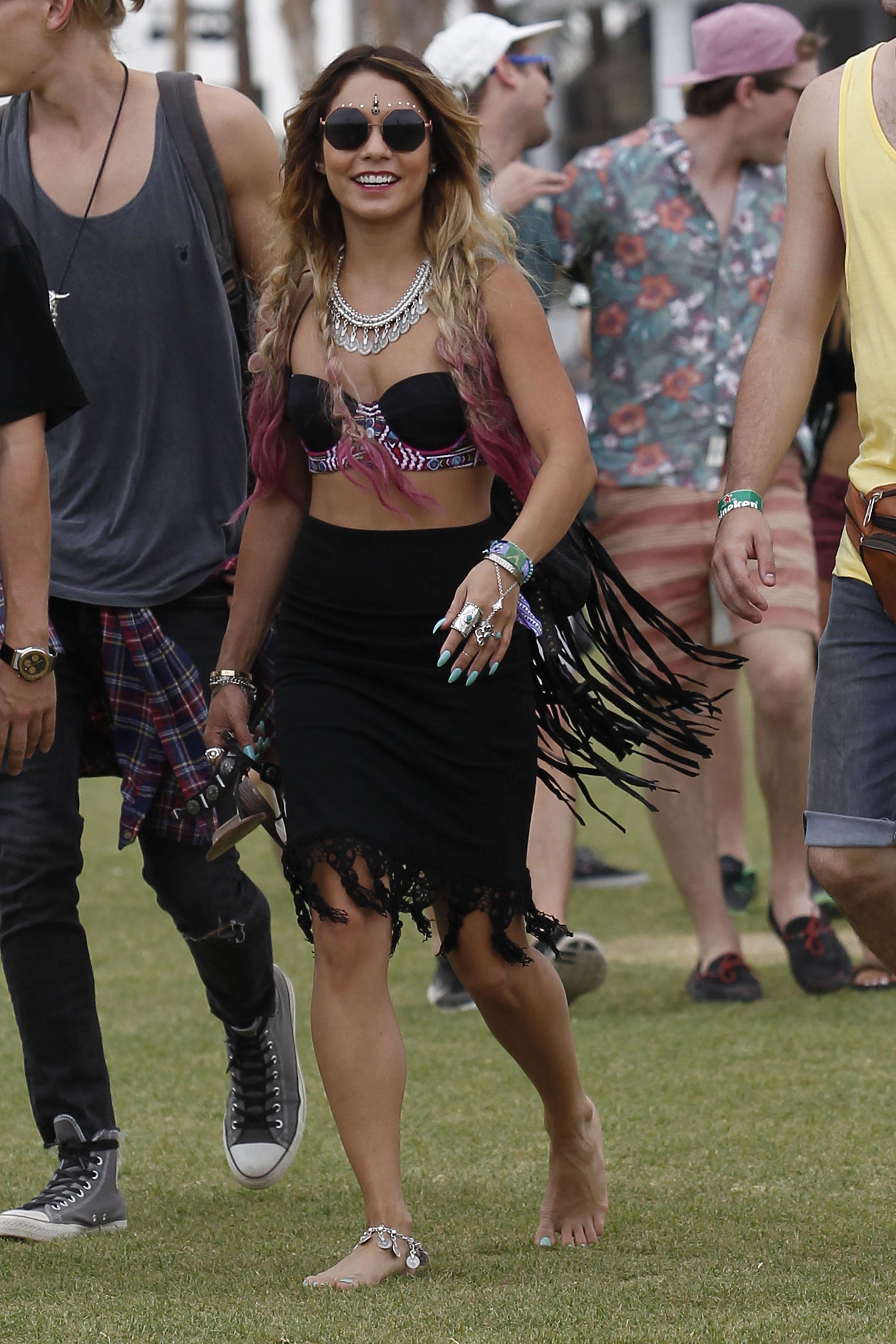 Barefoot Coachella Goddess Vanessa Hudgens Takes On