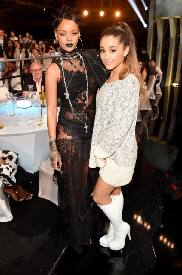 With Rihanna