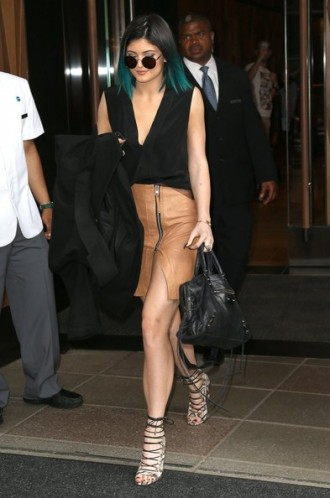 Kylie Jenner wearing AllSaints in New York, NY