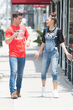 : Zendaya and Spencer Boldman grab lunch at Fratelli Cafe on Melrose Avenue in Los Angeles