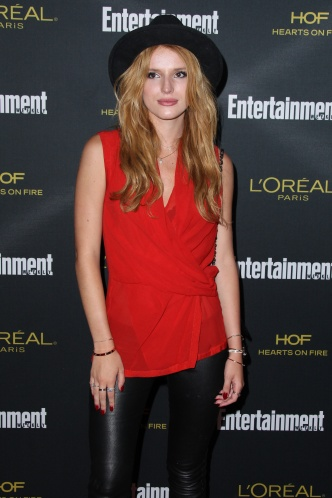 Bella Thorne arrives at the 2014 Entertainment Weekly Pre-Emmy Party held at the Fig & Olive in West Hollywood