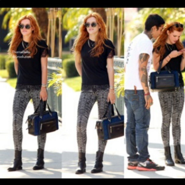 bella thorne poses in style as she hits the streets of