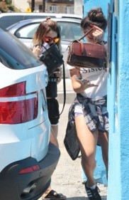 Vanessa Hudgens and Ashley Tisdale hit WundaBar Pilates in Studio City ***NO DAILY MAIL SALES***