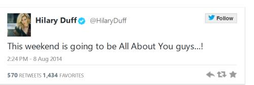 Hilary Duff Single
